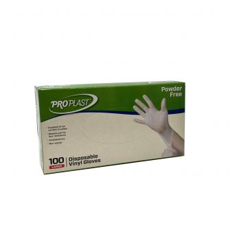 Vinyl Gloves Powder Free - Large - 100 Count