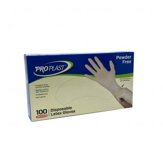 Latex Gloves Powder Free - Medium - 100 Count