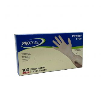 Latex Gloves Powder Free - Large - 100 Count