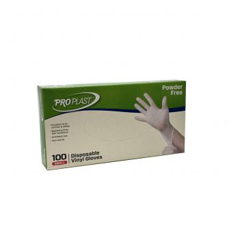 Vinyl Gloves Powder Free - Small - 100 Count