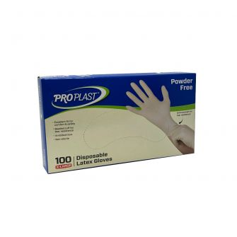 Latex Gloves Powder Free - Extra Large - 100 Count