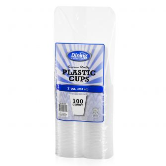 Dining Collection 7 oz. Plastic Cups - Clear - 100 ct.
