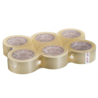 "ProPlast Packing Tape (Bulk) - Clear - 2"" x 110 yds. - 6 Count"