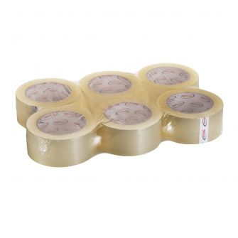 "ProPlast Packing Tape (Bulk) - Clear - 2"" x 55 yds. - 6 Count"