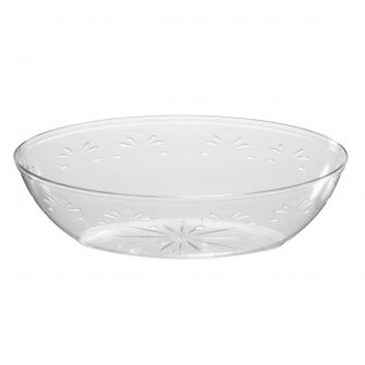 Embellish 64 oz. Oval Serving Bowls - Clear Plastic - 50 Count