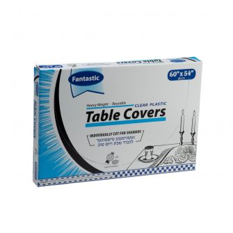"Fantastic Heavy Weight Table Covers - 60"" x 54""  - Clear - 28 Count"