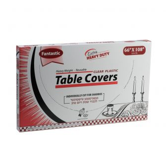 "Fantastic Extra Heavy Duty Table Covers - 66"" x 108""  - Clear - 13 Count"