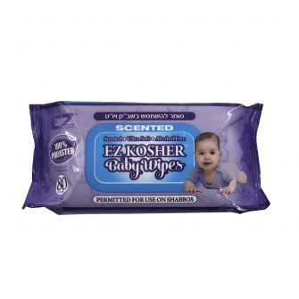 "EZ Kosher Ultra Soft Baby Wipes (Scented) 6"" x 8"" - 80 Count"