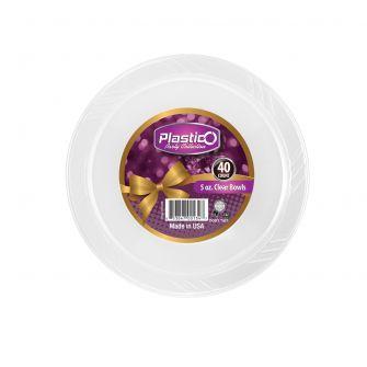 Plastico 5 oz. Bowls - Clear Plastic - 40 Count