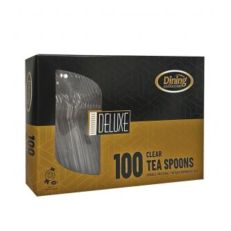 Dining Collection Deluxe Teaspoons (Box) - Clear Plastic - 100 ct.