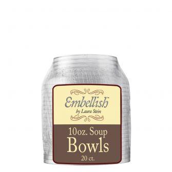 Embellish 10 oz. Soup Bowls - Clear Plastic - 20 Count