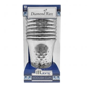 DiamondWare Majestic Series 5 oz. Kiddush Cups (Silver) – 10 ct.
