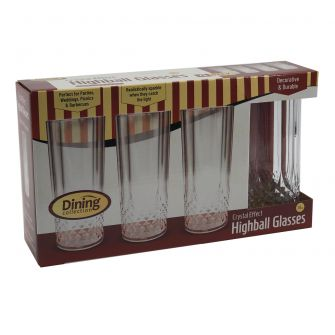 Dining Collection Crystal Effect Highball Glasses (14 oz.) - 4 Count