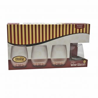 Dining Collection Stemless 13oz. Wine Glasses - 8 Count