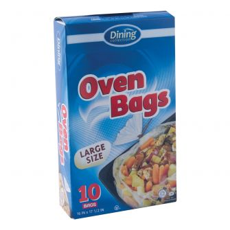 "Dining Collection Oven Bags - Large Size - 16"" x 17.5"" - 10 ct."