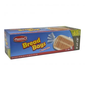 Plastico Bread Bags & Ties - 45 ct.