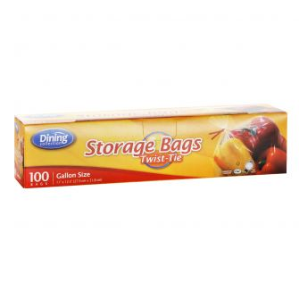 Dining Collection Storage Bags w/ Twist Ties - 100 ct.