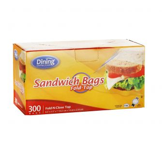 Dining Collection Fold Top Sandwich Bags - 300 ct.