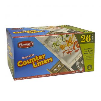 Plastico Counter Liners (Clear) - 26 ct.