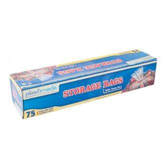 Plastimade Storage Bags w/ Twist Ties - 75 ct.