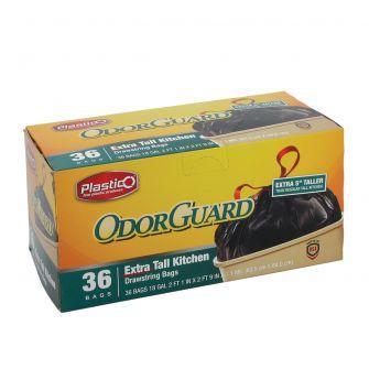 Plastico OdorGuard Extra Tall Kitchen 18 Gal. Bags - Black - 36 ct.