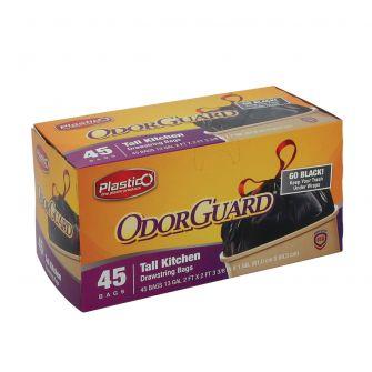 Plastico OdorGuard Tall Kitchen 13 Gal. Bags - Black - 45 ct.