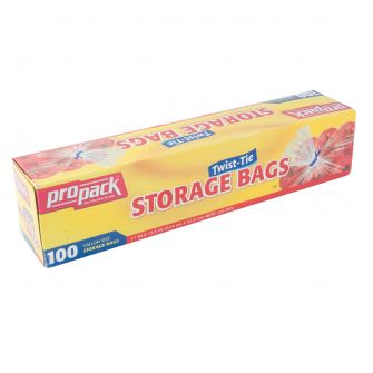 ProPack Storage Bags w/ Twist Ties - 100 ct.