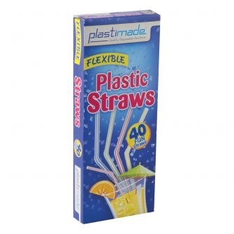 Plastimade Flexible Straws (ST2540) - 40 Count