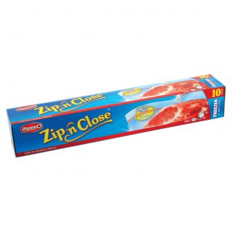 Plastico Zip n' Close 2 Gal. Freezer Bags - 10 ct.