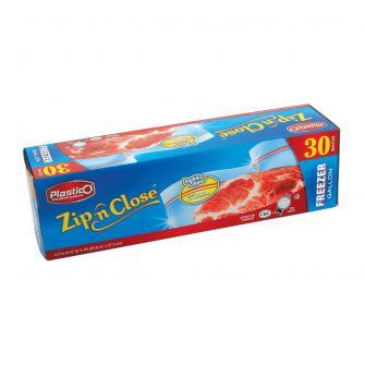 Plastico Zip n' Close Freezer Bags - 30 ct.
