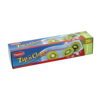 Plastico Zip n' Close Storage Gal. Bags - 20 ct.