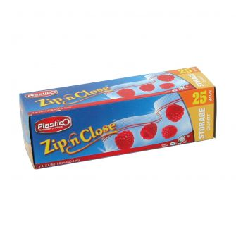 Plastico Zip n' Close Storage Qt. Bags - 25 ct.