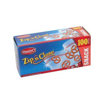 Plastico Zip n' Close Snack Bags - 100 ct.
