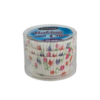 Fantastic Baking Cups (Standard Size) -  Floral - 72 Count