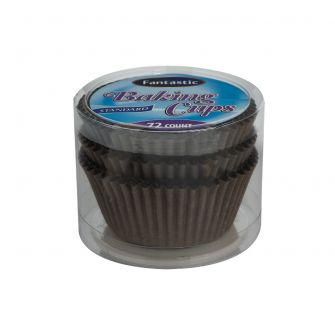 Fantastic Baking Cups (Standard Size) -  Brown - 72 Count