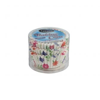 Fantastic Baking Cups (Mini-Size) -  Floral - 72 Count