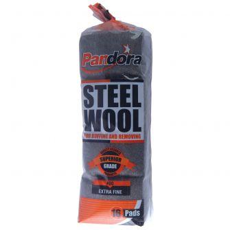 Pandora Steel Wool #00 (Extra Fine) - 16 ct.