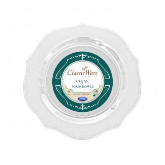ClassicWare 16 oz. Soup Bowls - Clear Plastic - 18 Count