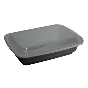 Dining Collection 38 oz. Rectangular Container w/ Lid - 4 ct.