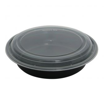 Dining Collection 48 oz. Round Container w/ Lid - 4 ct.