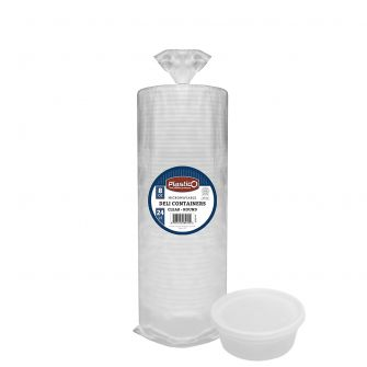 Plastico 8 oz. Soup Container w/ Lid (Bulk Packaging)