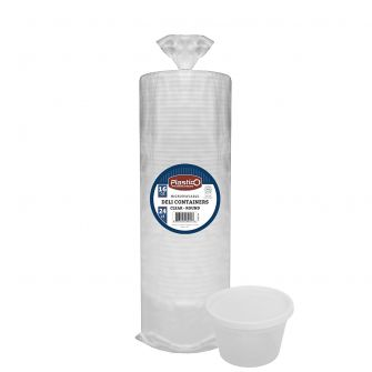 Plastico 16 oz. Soup Container w/ Lid (Bulk Packaging)