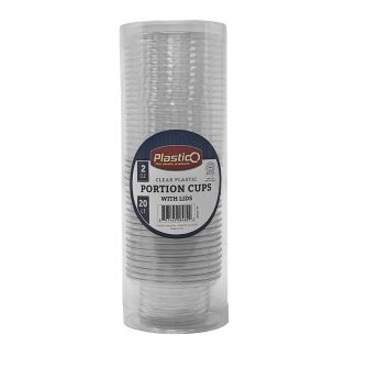 Plastico 2 oz. Portion Cups w/ Lids - 20 ct.