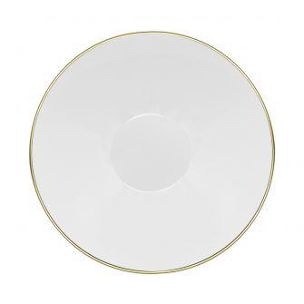CoupeWare Basic 16 oz. Bowl (White/Gold) - 10 ct.