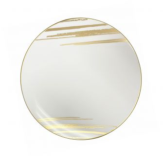 "CoupeWare Brush Stroke (White/Gold)  7.5"" Plates - 10 ct."