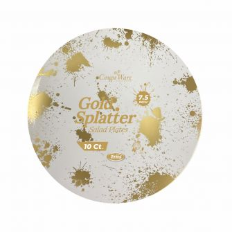 "CoupeWare Gold-Splatter W&G 7.5"" Plates - 10 ct."
