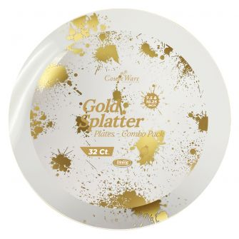 CoupeWare Gold-Splatter W&G Combo Plates - 16 ct.