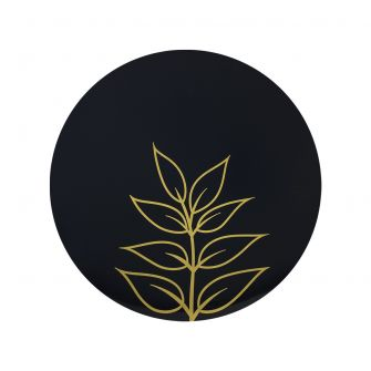 "CoupeWare Gold Leaf (Black/Gold)  9"" Plates - 10 ct."