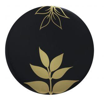 "CoupeWare Gold Leaf (Black/Gold)  10.25"" Plates - 10 ct."