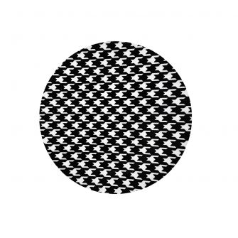"CoupeWare Houndstooth (White/Black)  7.5"" Plates - 10 ct."